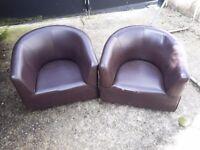 Children's brown chairs
