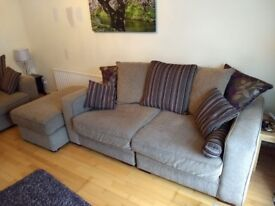 2 identical large 3 seater sofas amd pouffe/large footstool in Newtownabbey