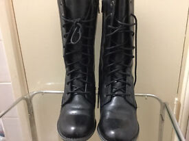 Brand new leather boots in very good condition only £25