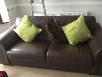 **** LEATHER 3 and 2 SEATER SOFAS FOR SALE ****