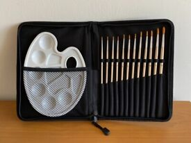 12 pcs painting brushes set in zip case