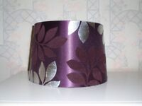 Purple Lamp Shade with flower pattern