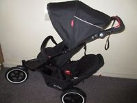 Phil & Teds Sport 2 double pushchair nearly new Phil & Teds Airlight carrier new from John Lewis