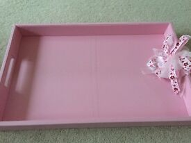 Pink baby shower tray- Favours tray