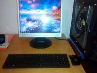 "Computer Setup, AMD Quad Core 3.1Ghz, 4GB RAM, 500GB Hard Drive, 17"" Monitor, Wireless KB & Mouse"