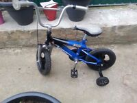 """BOYS CHILDREN KIDS ACTIONMAN ATOM 12"""" WHEEL WITH STABILISERS AGE 2-6 BIKE BICYCLE"""