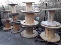 Cable reels/drums used ready for up cycle , several sizes available