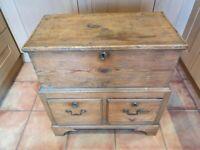 Antique pine chest, c.1780 - 1800