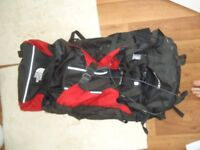 The North Face 75L backpack