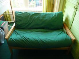 Double size futon sofa bed.
