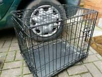 Dog cage 24 inches long 16inchs wide for home or car