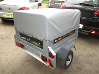 DAXARA 107 TILTBED / DROPTAIL GOODS TRAILER WITH HIGH FRAME / COVER.....
