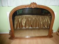 CARVED MANTLE MIRROR - house clearance