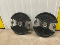 2 x 15kg weight plates