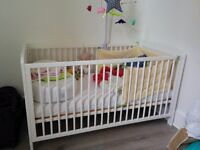 Brand new white Cot Bed - still in its box (delivered twice)