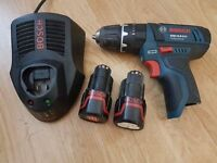 NO OFFERS!!! BOSCH GSB 10.8v LI-ION HAMMER DRILL 2x batteries, rapid charger DeWALT MAKITA MILWAUKEE