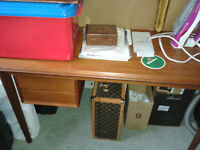 Large Teak Desk + Office chair