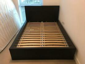 Ikea Malm Double bed frame in stylish Black /Brown