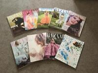 9 x Harper's Bazaar Magazine Collection