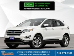 2018 Ford Edge Titanium ~~~CAP Unit, 302a, NAV, Winter pkg~~~