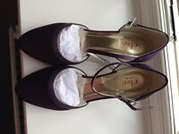 Rainbow Club Low Heeled Shoes, Dyed Grape Colour, Size 3