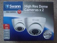 Swann cctv System with 2 Dome cameras All leads and instructions