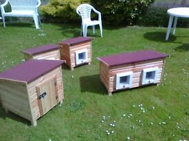 Small Pet Kennels & Double Kennels - Cat Boxes & Small Dox Boxes - Oil Treated / Felted Roof