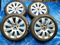 "4 NEAR NEW GENUINE LAND ROVER DISCOVERY 3/4 HSE STYLE 101 501 21"" NOT 22"" INCH ALLOY WHEELS & TYRES"
