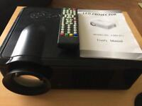 HD home cinema projector with remote