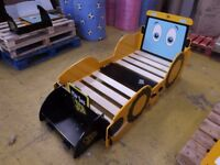Kidsaw Joey JCB Junior Toddler Bed 140 70 Cot Yellow - Marks / Chips