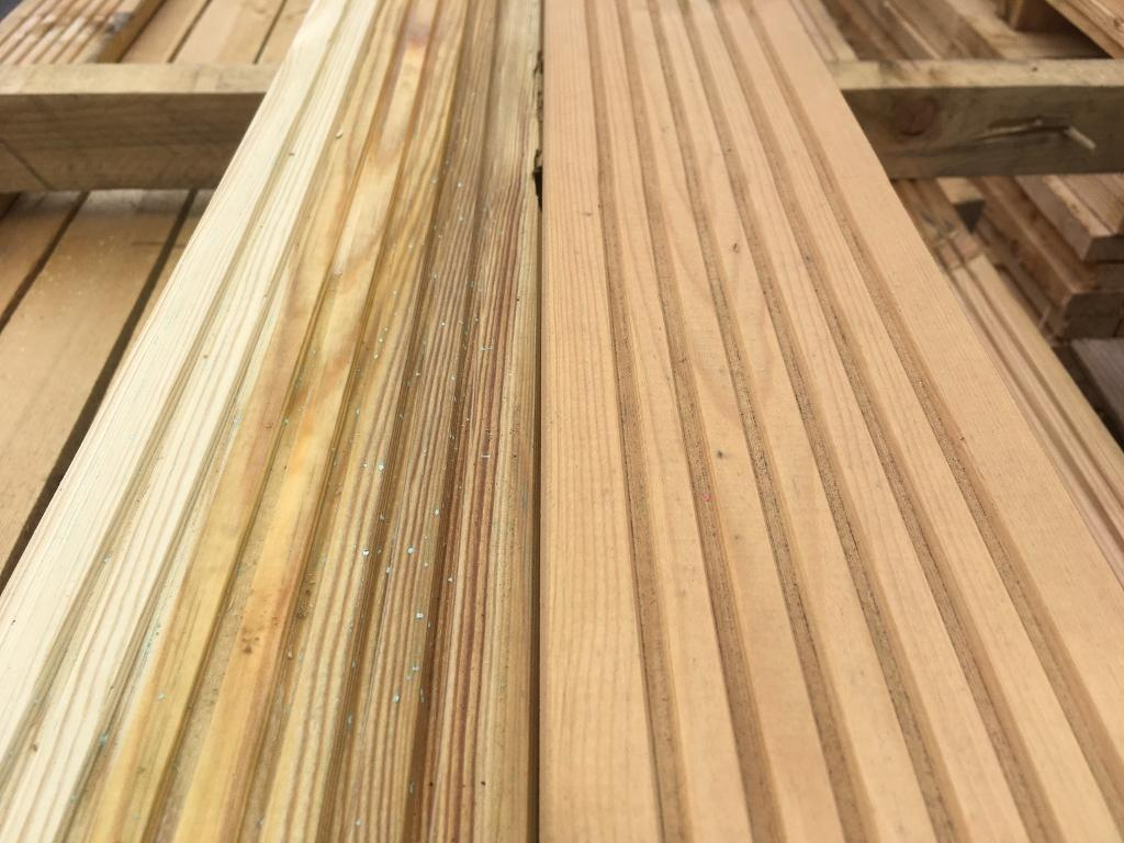 Pressure treated decking and joist