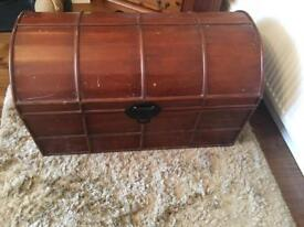 Large Rustic Wooden Storage Chest Blanket Box