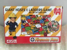 Fireman Sam giant snakes and ladders game
