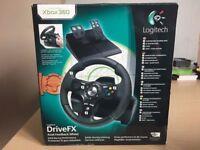 Logitech DriveFX Axial Feedback Wheel & Pedals (Xbox 360)