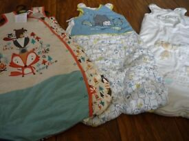 Three baby sleeping bags from 6 months upwards