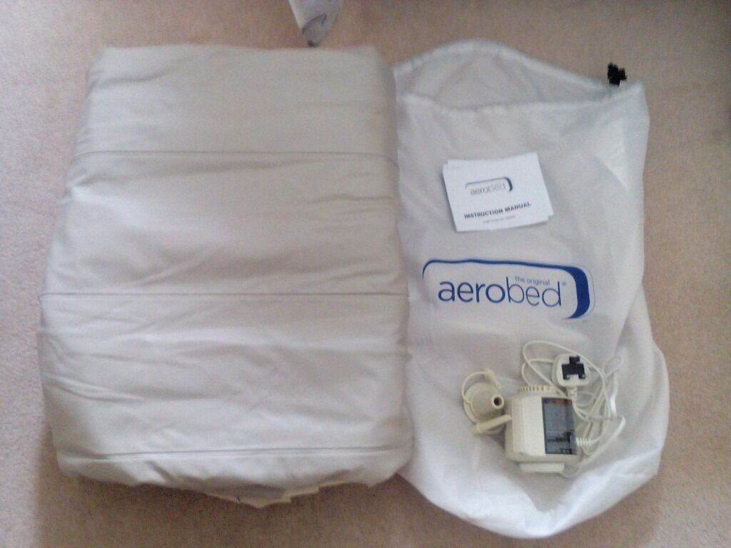 Aerobed Comfort Raised King Size Inflatable Guest Air Bed - Beige