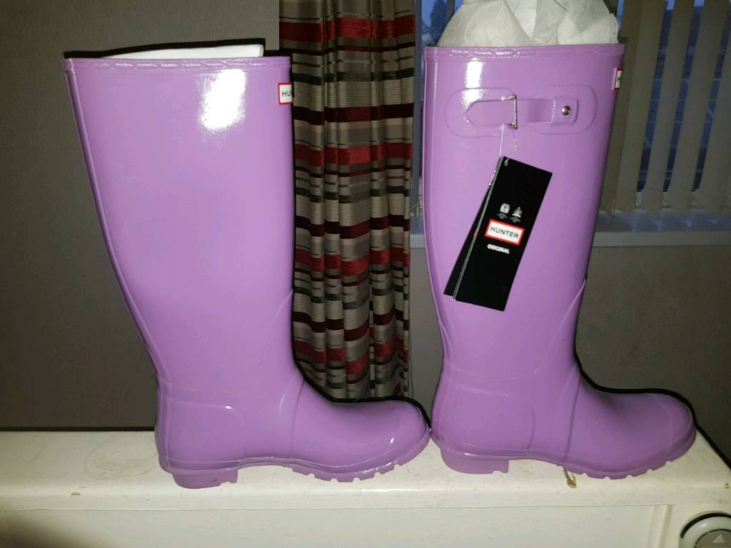 Brand new lilac hunter wellies size 8