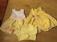 Yellow summer dress set size 9-12 month
