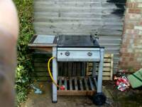Decent BBQ on wheels and shelving