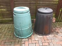 Two used compost bins