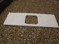 Quartz beige coloured work top, listed as used but never used,