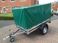 Brand new Brenderup 1205s car box trailer with high 80 cm gray cover