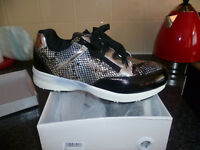 2 new paairs of trainers/trainer boots size 4 in box