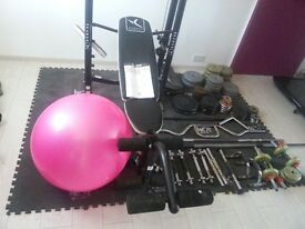 Gym Set, weights and all equipment