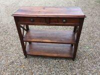 2 Draw American Hardwood Side Or Hall Table