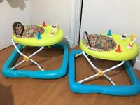 2 baby walkers for sale