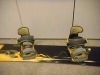 Snowboard 157, boots (8), bindings, jacket (ladies L), helmet package
