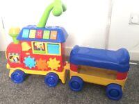 Kids ride on activity toy train