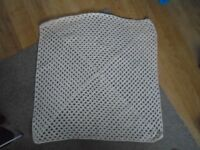 New Hand Made Cream Crochet Baby Blanket aprox 25 inch square