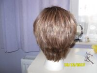 Short light brown wig